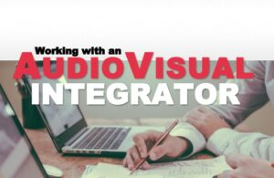 """A screenshot of the cover of the e-book """"Working with an Audiovisual Integrator"""""""