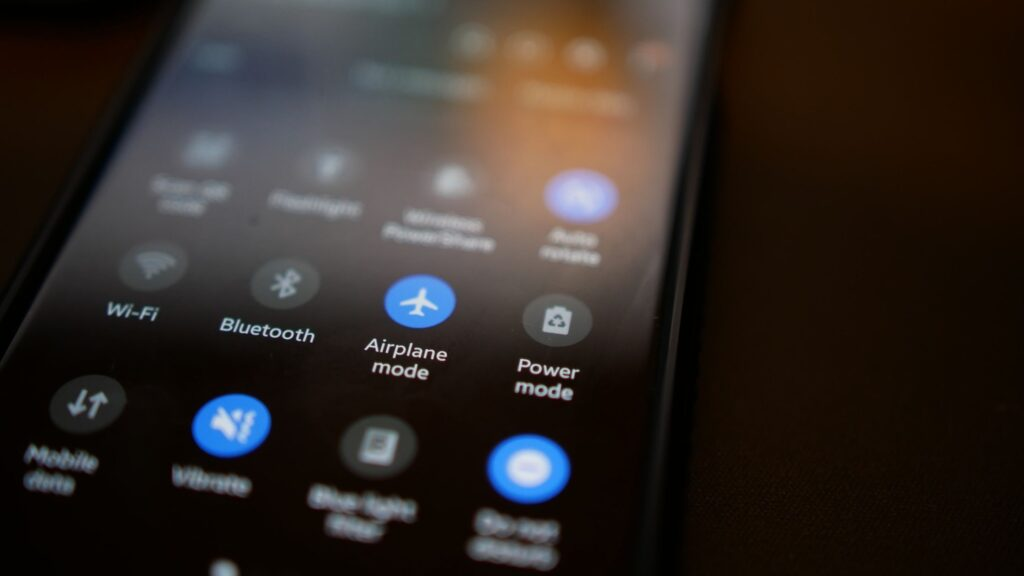 WiFi and Bluetooth options available on your phone